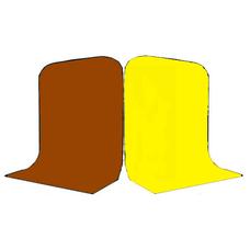 Фон Grifon 1,5х3 метра Коричневый и Жёлтый