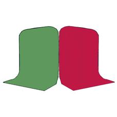 Фон Grifon 1,5х3 метра Зелёный и Рубиновый