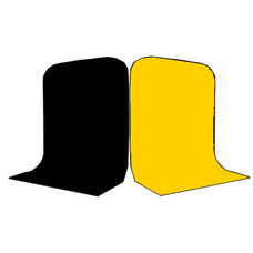 Фон Grifon 1,5х3 метра Чёрный и Жёлтый