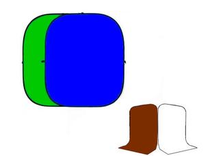 Grifon KiT - 4B4 - Хромакей 1.5х2м (Зелёный/Синий) + чехол Белый/ Коричневый 1.5х3м