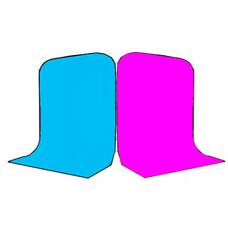 Фон Grifon 1,5х3 метра Голубой и Пурпурный