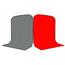 Фон Grifon 1,5х3 метра Серый и Красный