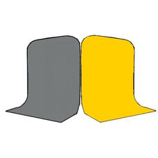 Фон Grifon 1,5х3 метра Серый и Жёлтый