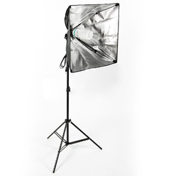 Strobolight Youtuber_4040 - Комплект видео света софтбокс с лампой и стойкой