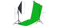 Strobolight Youtuber_CHROM - Видео свет софтбокс с лампой, стойкой фоном хромакей и держателем