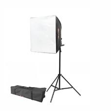 Софтбокс с LED лампой и стойкой в сумке