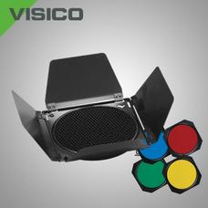 Шторки на рефлектор Visico BD-200 с сотой и цветными фильтрами