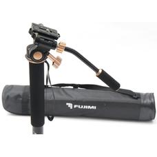 Fujimi FM333LH Алюминиевый монопод с 3-х точечным упором и видео-головой (1660 мм)
