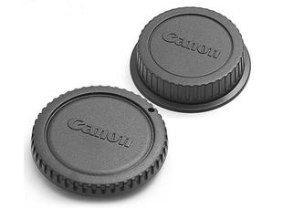 Крышки для объектива Canon (комплект, крышка байонета и задняя крышка, черного цвета)
