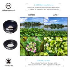 Apexel APL-DG10 10 в 1 - Набор объективов для смартфона