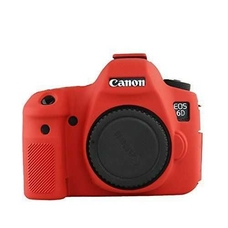 Силиконовый чехол для фотоаппарата Canon EOS 6D (цвет красный)