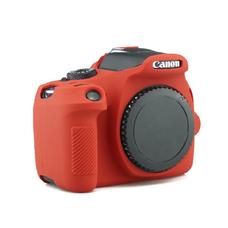 Силиконовый чехол для фотоаппарата Canon EOS 1300D (цвет красный)