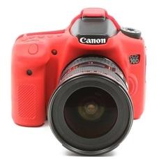 Силиконовый чехол для фотоаппарата Canon EOS 70D (цвет красный)