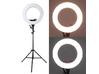 LED GRIFON SMD 50 W - Селфи-кольцо. Кольцевой светодиодный осветитель c регулировкой яркости и цветовой температуры 3200К-5800К с зеркалом +стойка