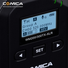 Comica CVM-WM200/300 XLR UHF Беспроводной радиочастотный передатчик
