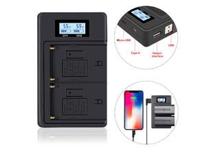 Strobolight DCBC Зарядное устройство + PowerBank для Sony NP-F/FM