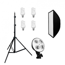 Grifon FLU-112 SB набор люминесцентного освещения 180 Вт с софтбоксом