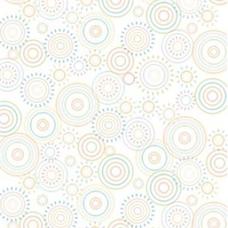 Ella Bella #2515 PHOTO BACKDROP HOPSCOTCH CIRCLES фон бумажный загадочные круги 1.2х3.7 м