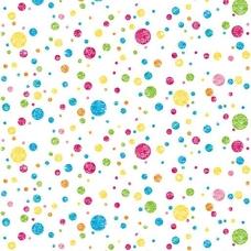 Ella Bella PHOTO BACKDROP MULTI DOTS #2508 фон бумажный разноцветные пятнышки 1.2х3.7м