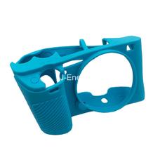 Силиконовый чехол для фотоаппарата Sony Alpha ILCE-6000/A6000 (цвет бирюзово-синий)