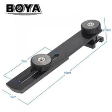 Boya BY-C01 Универсальное крепление-планка с болтом 1/4 и держателем