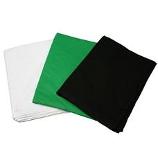 Фон тканевый однотонный Mingxing 68017 Solid Color Background Black (size: 3 x 6m)