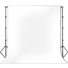 Фон виниловый FST 2,50x5,50 м белый на металлической трубе