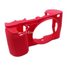 Силиконовый чехол для фотоаппарата Sony Alpha ILCE-6000/A6000 (цвет красно-розовый)
