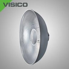 Насадка «Портретная тарелка» VISICO RF-550 серо-серебристая с креплением Bowens