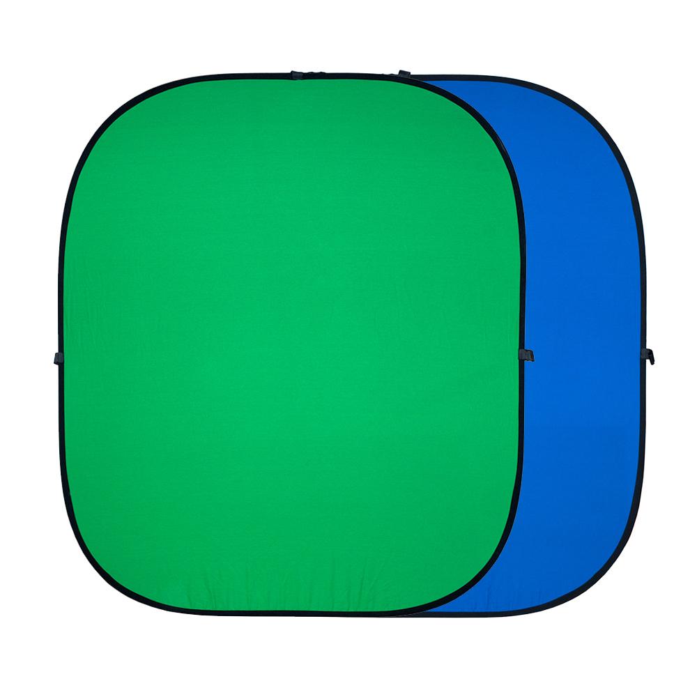 Strobo* R-1218 GB - Хромакей складной на пружине twist flex Chromakey 120х180см